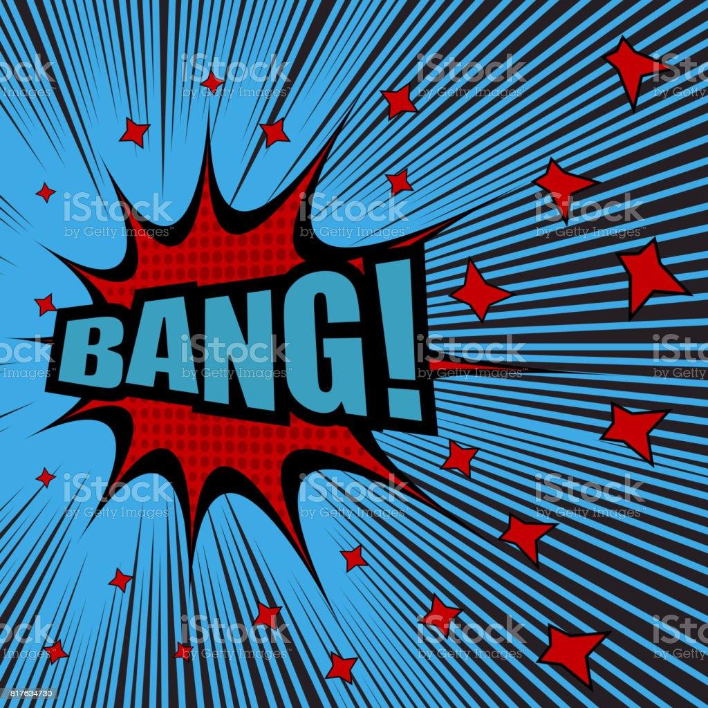 Bang comic cartoon vector art illustration