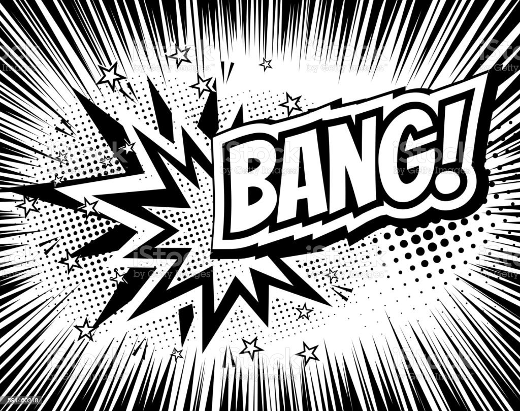 Bang comic cartoon wording. Pop-art style. Vector illustration with – Vektorgrafik