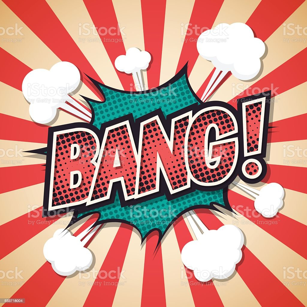 bang, Comic explosion speech bubble. bang text. Vector illustrat vector art illustration