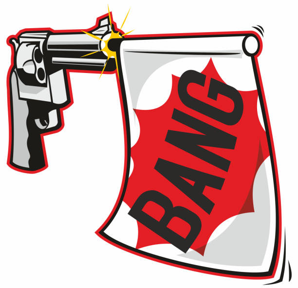 Bang Gun vector art illustration