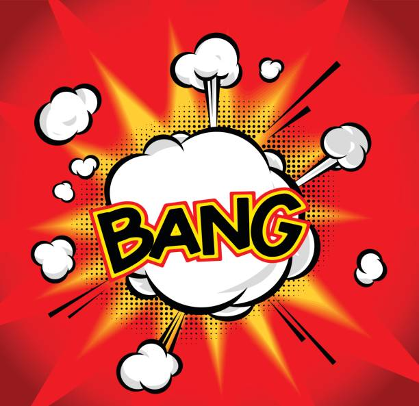 bang - sound effects stock illustrations, clip art, cartoons, & icons