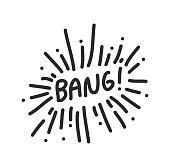 Bang Vector Illustration Symbol Design Element