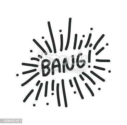 istock Bang Vector Illustration Symbol Design Element 1208431421