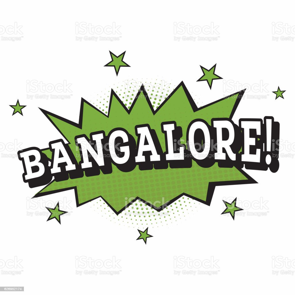 Bangalore. Comic Text in Pop Art Style. vector art illustration
