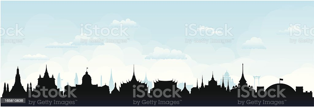 Bangkok (Buildings Are Detailed, Moveable and Complete) royalty-free stock vector art