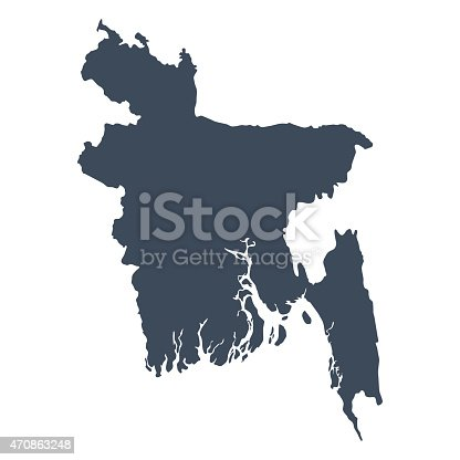 istock Bangladesh country map 470863248