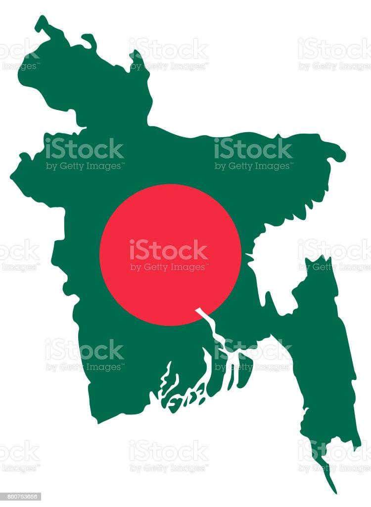 Asia Map Bangladesh.Bangladesh Map And Flag Stock Vector Art More Images Of Asia
