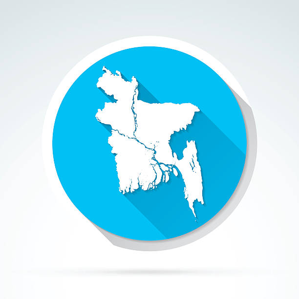 Royalty free bangladesh round map icon clip art vector images bangladesh map icon flat design long shadow vector art illustration gumiabroncs Images