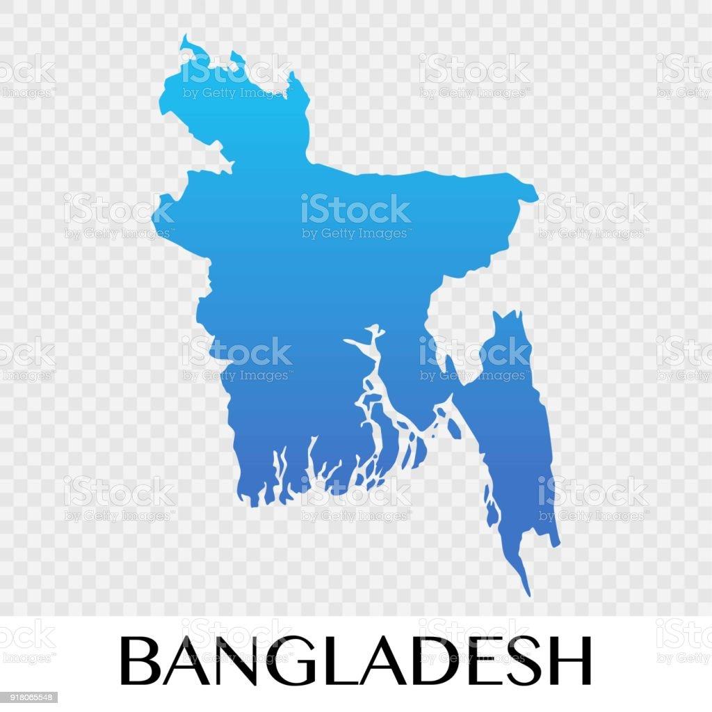 Asia Map Bangladesh.Bangladesh Map In Asia Continent Illustration Design Stock Vector