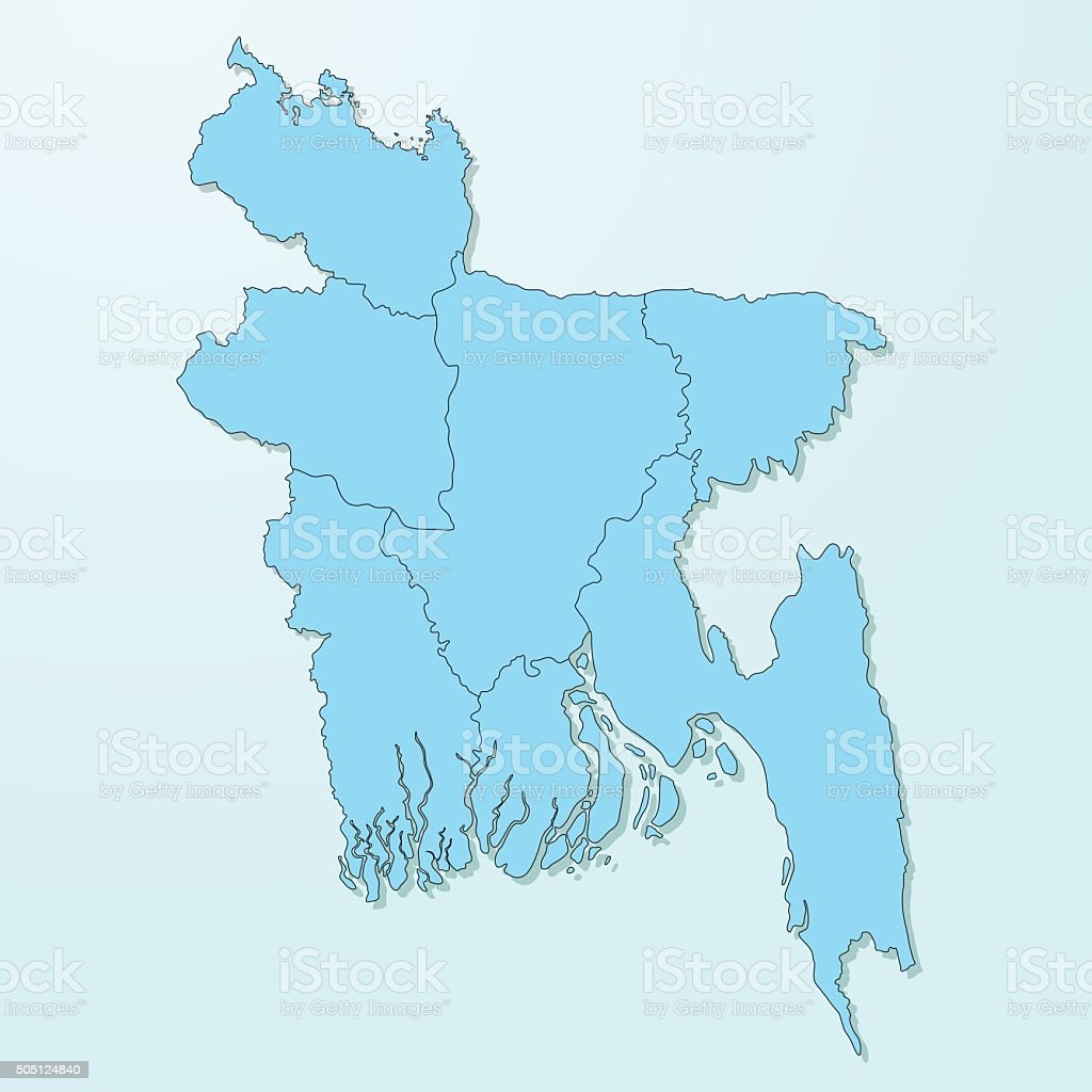 Bangladesh map on blue degraded background vector