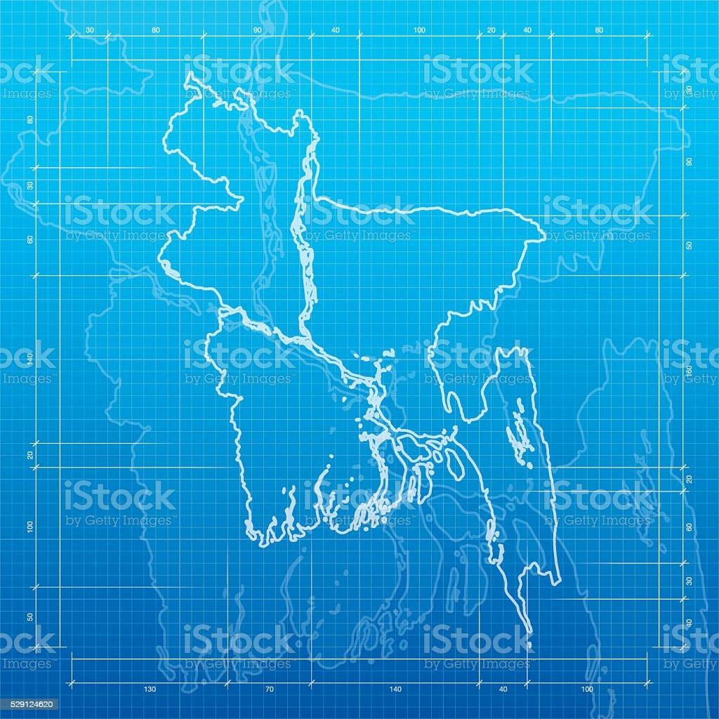 Bangladesh map on blueprint background stock vector art 529124620 bangladesh map on blueprint background royalty free stock vector art malvernweather Gallery