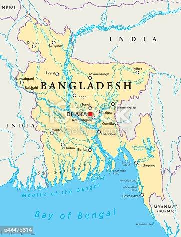 istock Bangladesh Political Map 544475614