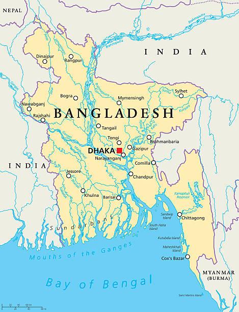 Royalty free bangladesh clip art vector images illustrations istock bangladesh political map vector art illustration gumiabroncs Image collections