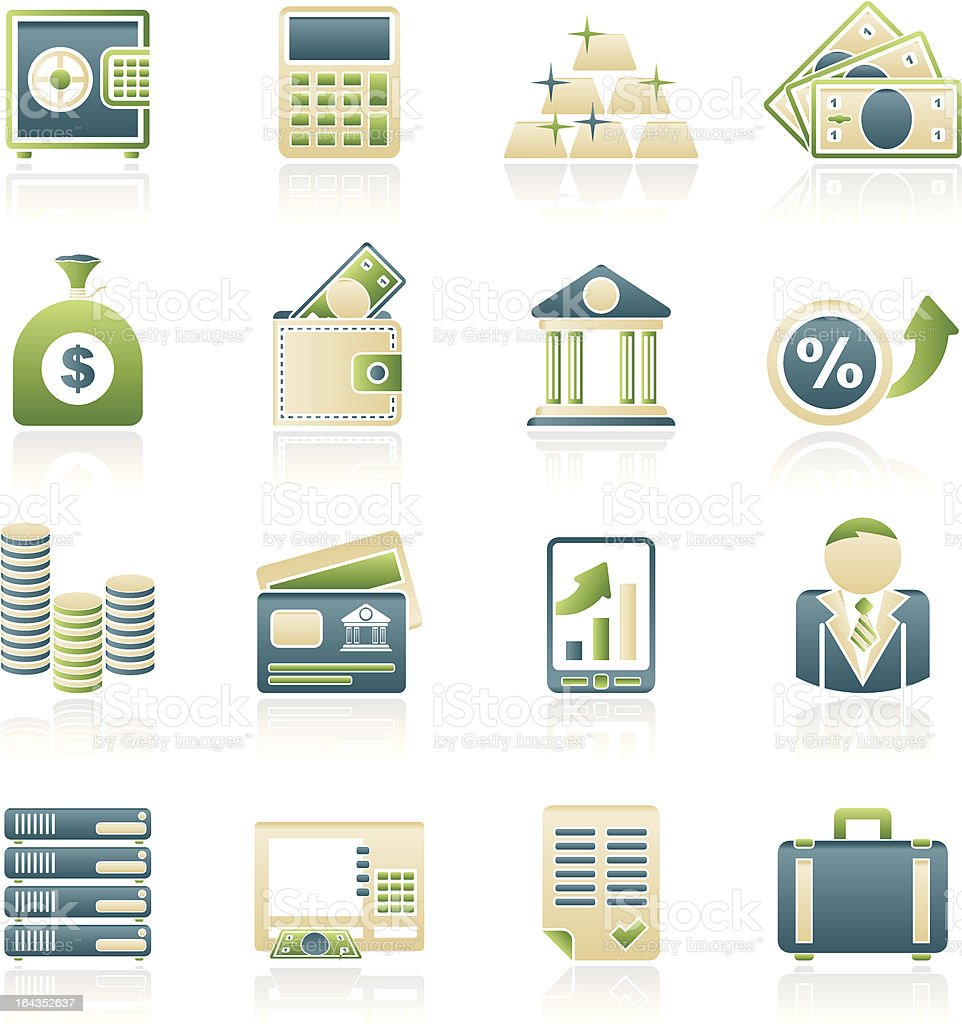 Bank and Finance Icons royalty-free stock vector art