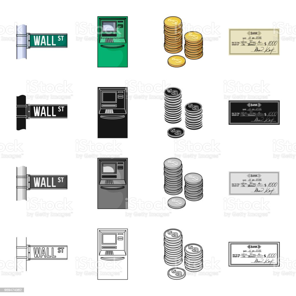 Bank, сapital, cashless and other web icon in cartoon style.Check, signature, paper, icons in set collection. vector art illustration