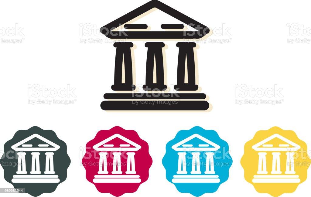 Bank Building Icon vector art illustration