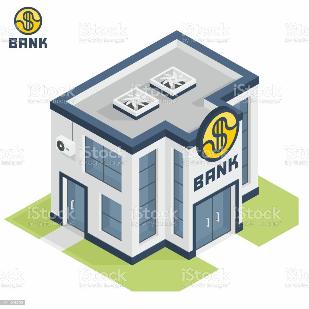 Edifício do Banco - ilustração de arte em vetor