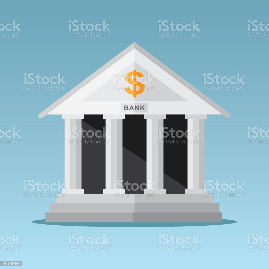 銀行大樓 - 免版稅一個物體圖庫向量圖形