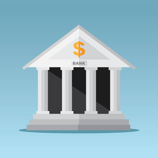 bank building - bank stock illustrations