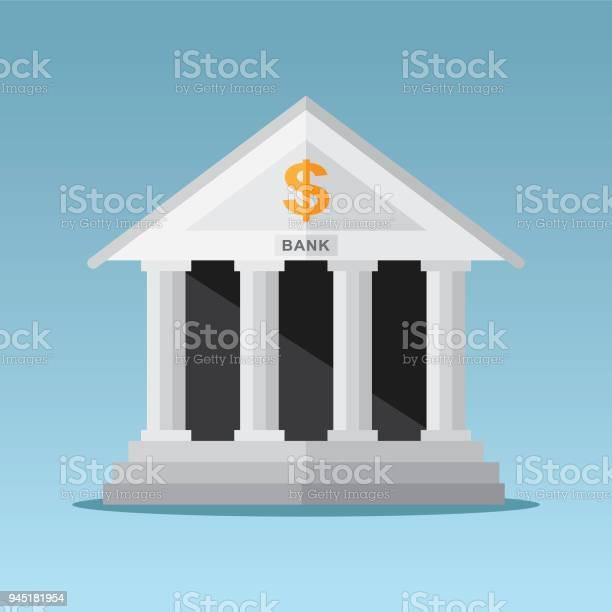 銀行大樓向量圖形及更多一個物體圖片