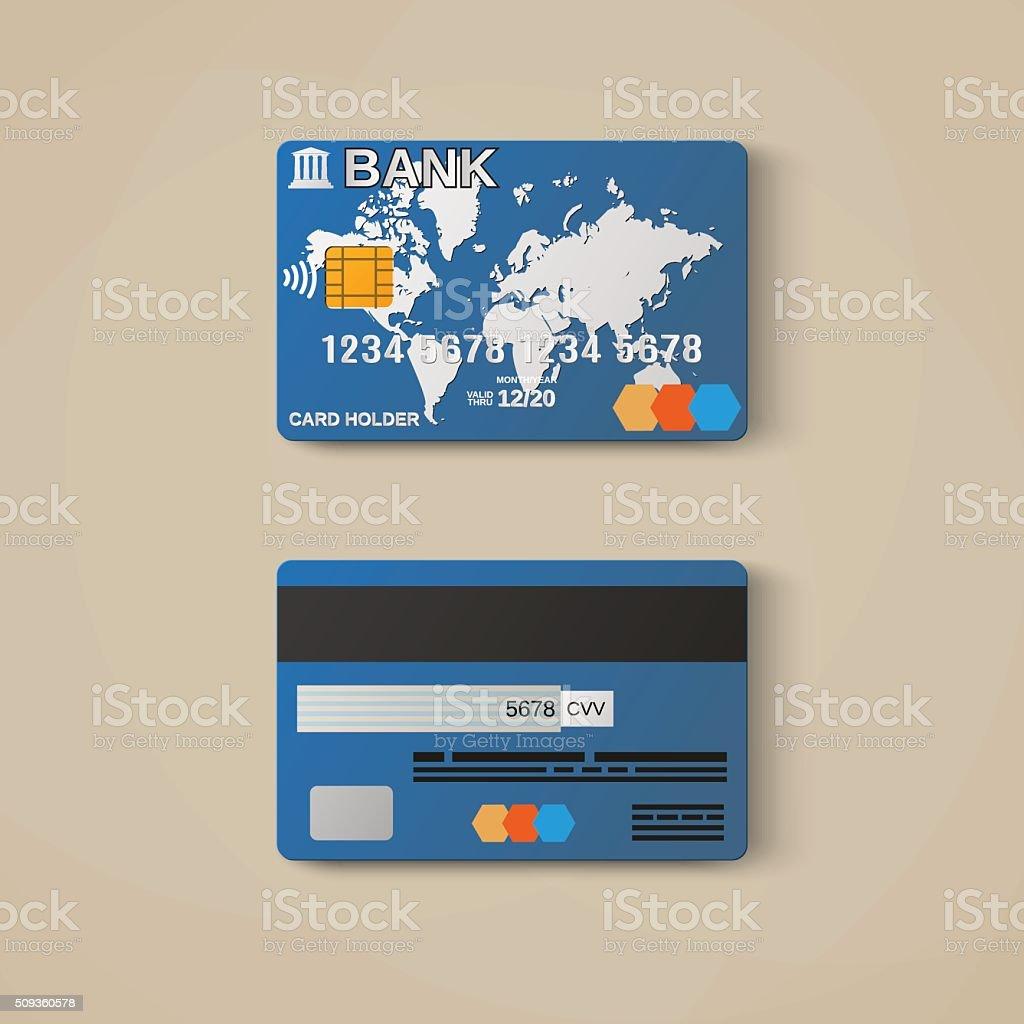 Bankkarte Deiner Kreditkarte Designvorlage Stock Vektor Art und ...