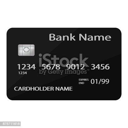 Eckarte Kredit Oder Eckarte Mockup Bankkarte Isoliert Auf Weißem ...