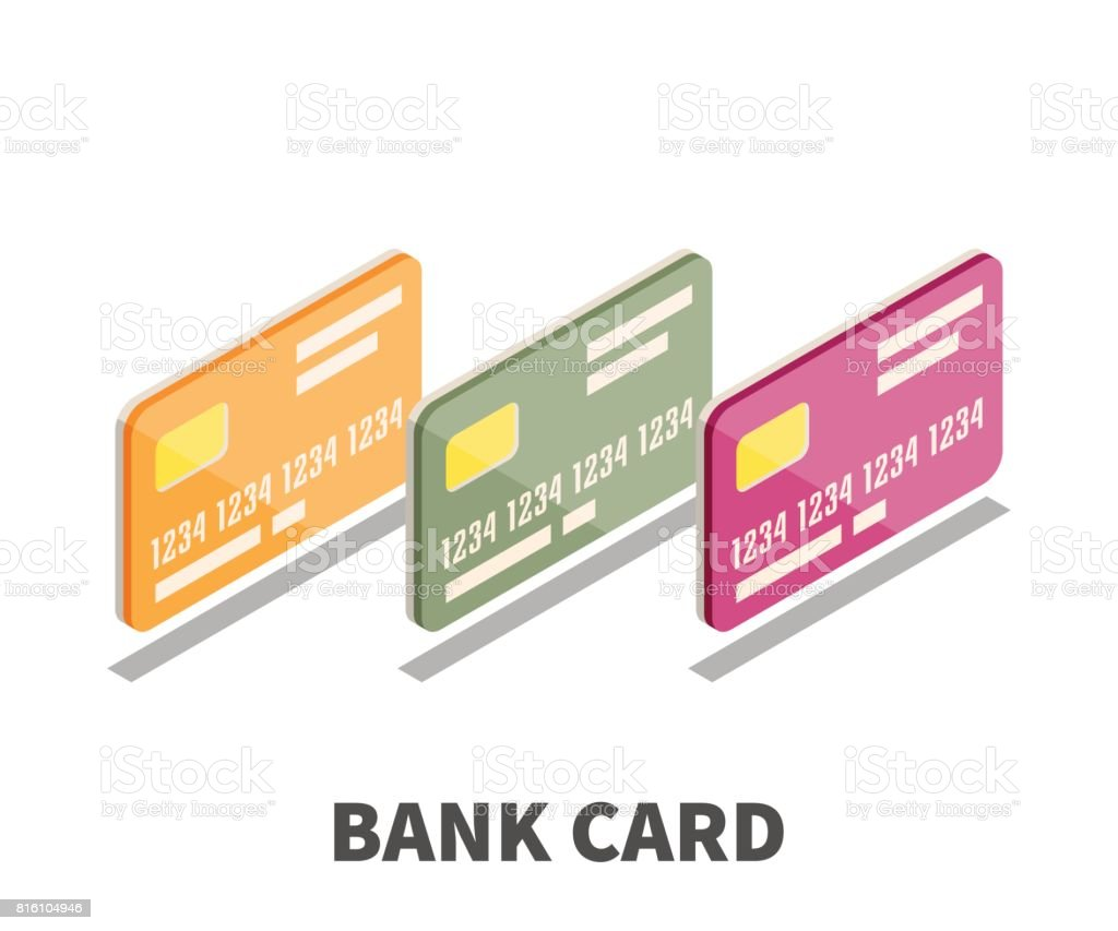 Bank card icon vector symbol in isometric 3d style isolated on bank card icon vector symbol in isometric 3d style isolated on white background royalty biocorpaavc Gallery