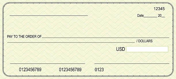 Bank check Bank check  banking borders stock illustrations