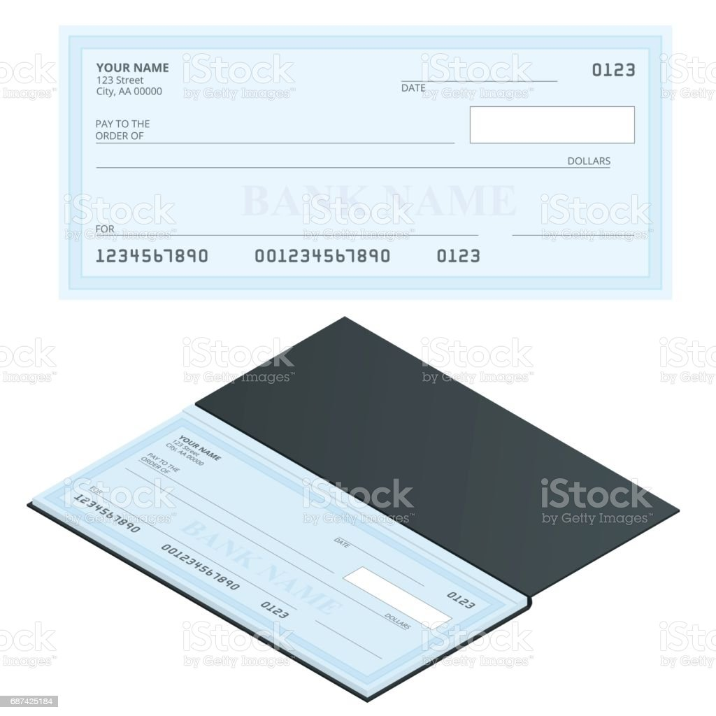 Bank Check with Modern Design. Flat illustration. Cheque book on colored background. Bank check with pen. Concept illustration pay, payment, buy. Bank Check with Modern Design. Flat illustration. Cheque book on colored background. Bank check with pen. Concept illustration pay, payment, buy Accountancy stock vector