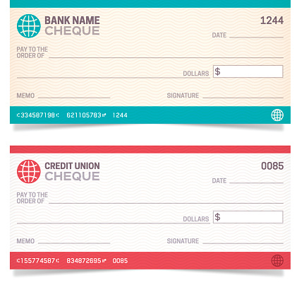 Bank Checks Stock Illustration - Download Image Now