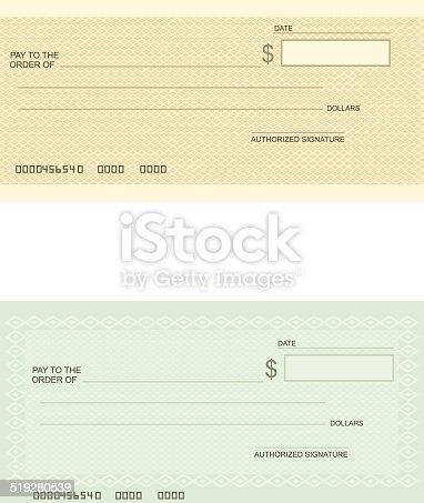 istock Bank cheque 519280539