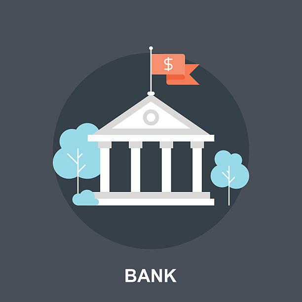 Bank-Konzept – Vektorgrafik