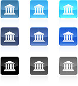 bank court house royalty free vector art