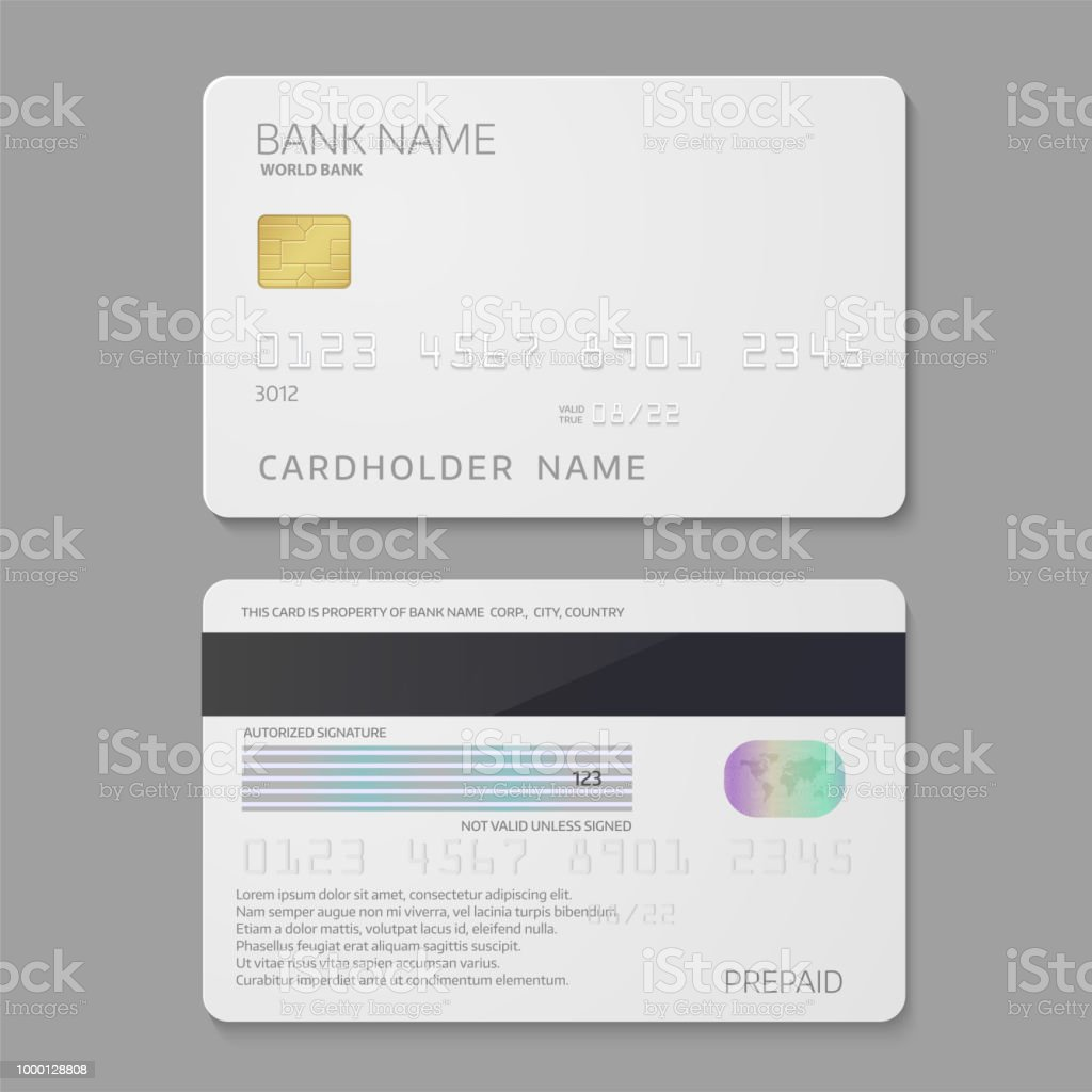 Bank Credit Card Template Stock Vector Art More Images Of