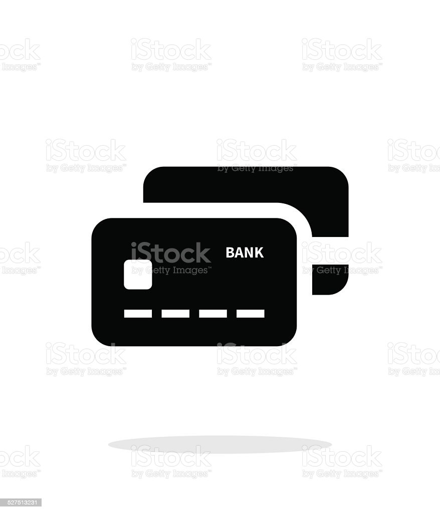 Bank credit cards icon on white background. vector art illustration