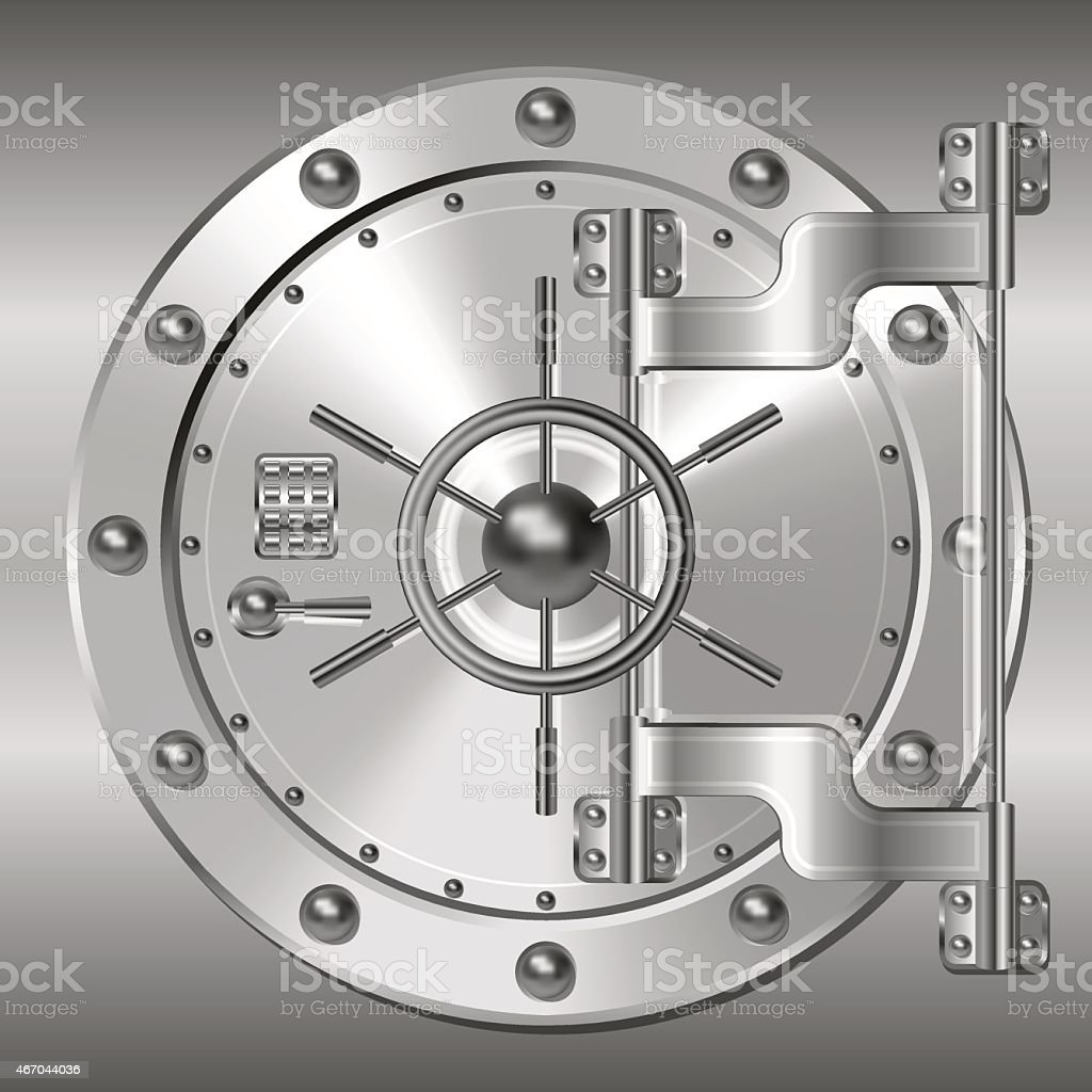 Bank doors vector art illustration