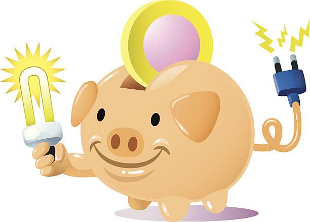 bank energie - hauswirtschaft stock-grafiken, -clipart, -cartoons und -symbole