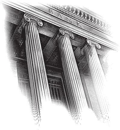 Bank Facade Engraving