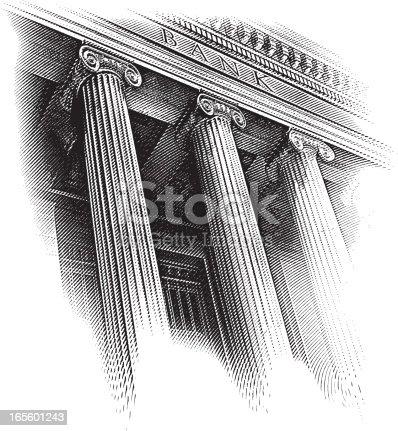 istock Bank Facade Engraving 165601243