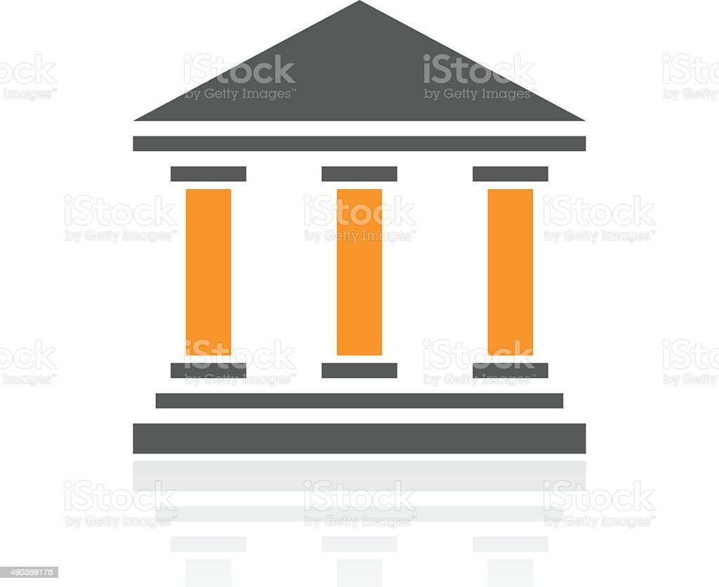 Bank icon on a white background. - ProSeries vector art illustration