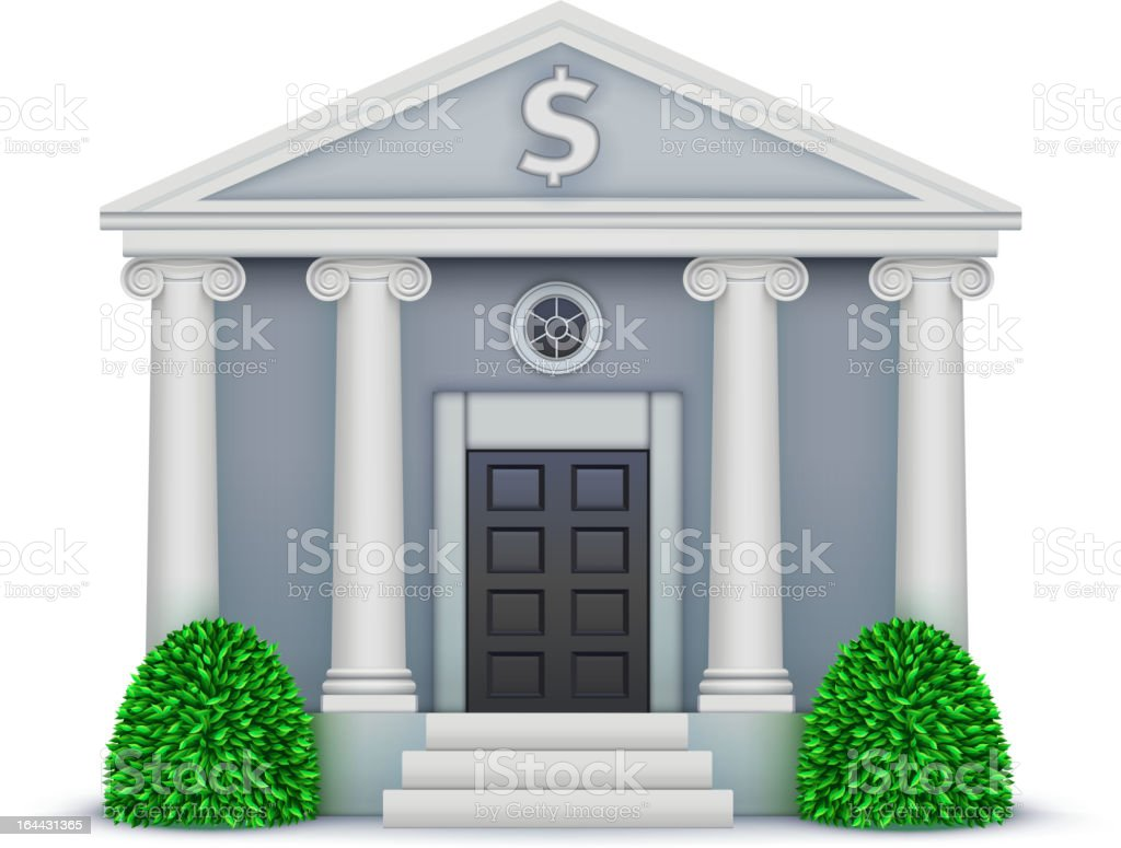 bank icon royalty-free stock vector art