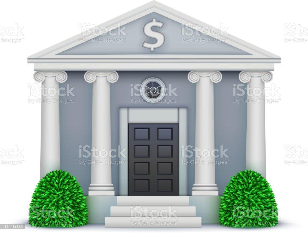 bank icon vector art illustration