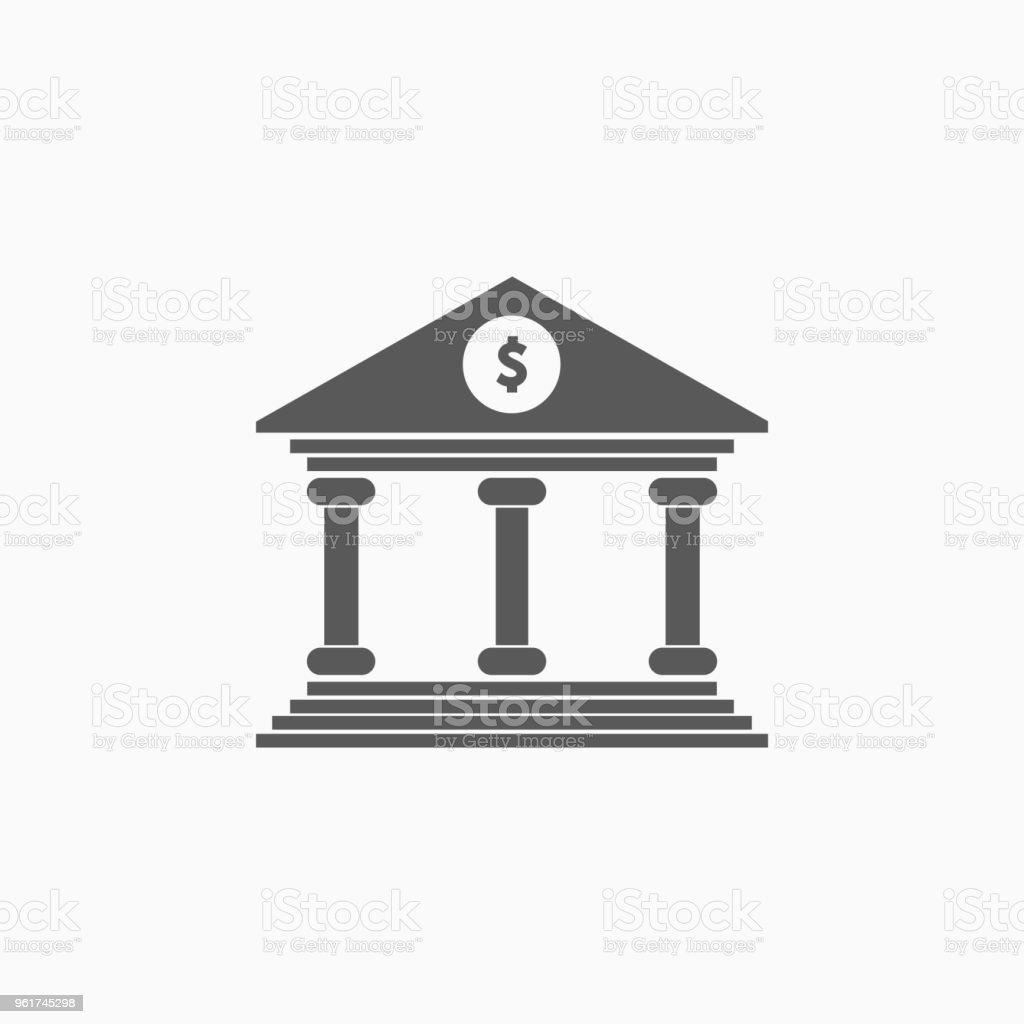 Ícone de banco - ilustração de arte em vetor