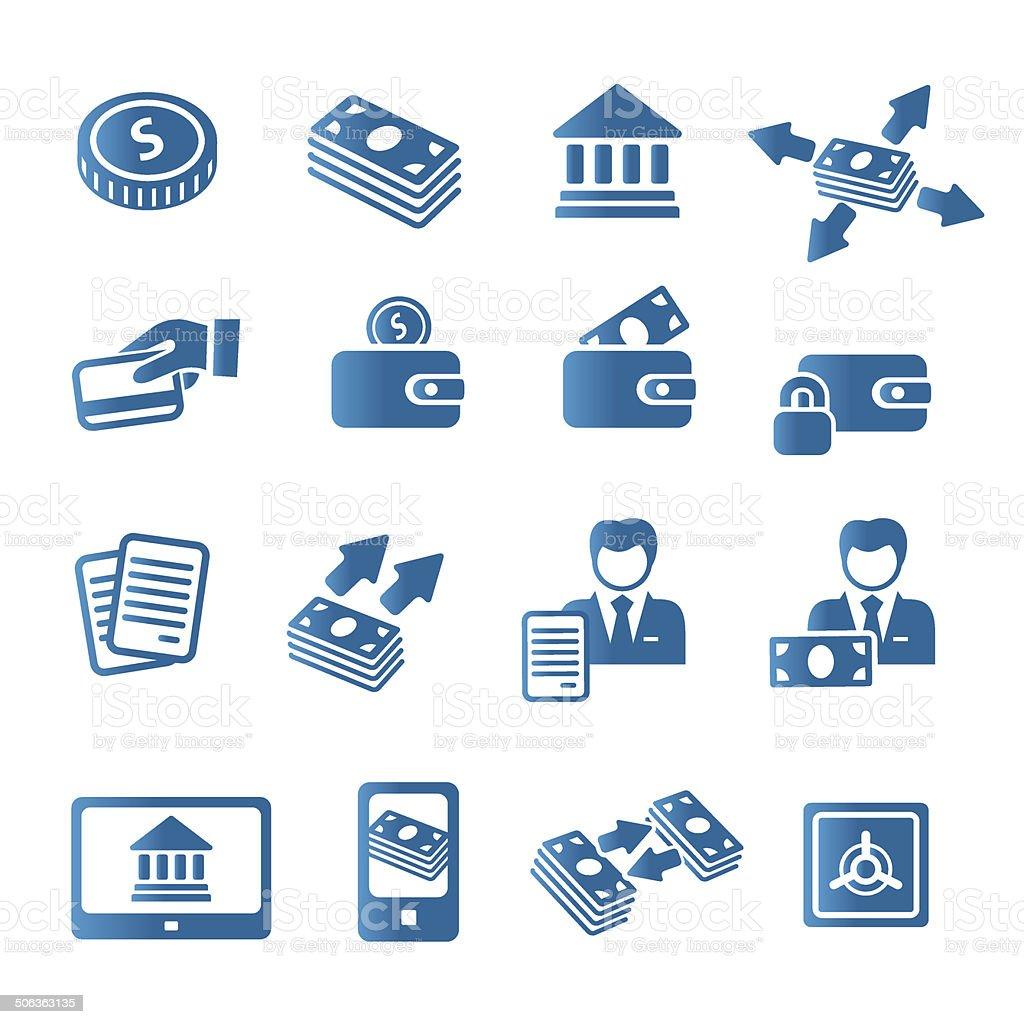 Bank icons vector art illustration