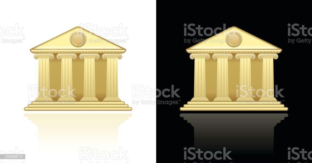 bank library building design royalty-free stock vector art