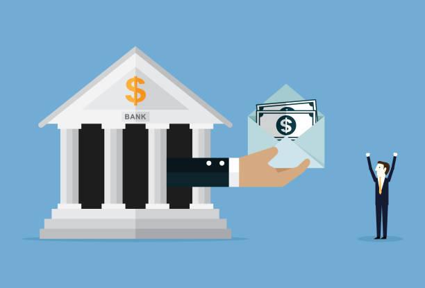 ilustrações, clipart, desenhos animados e ícones de empréstimo bancário - empréstimo