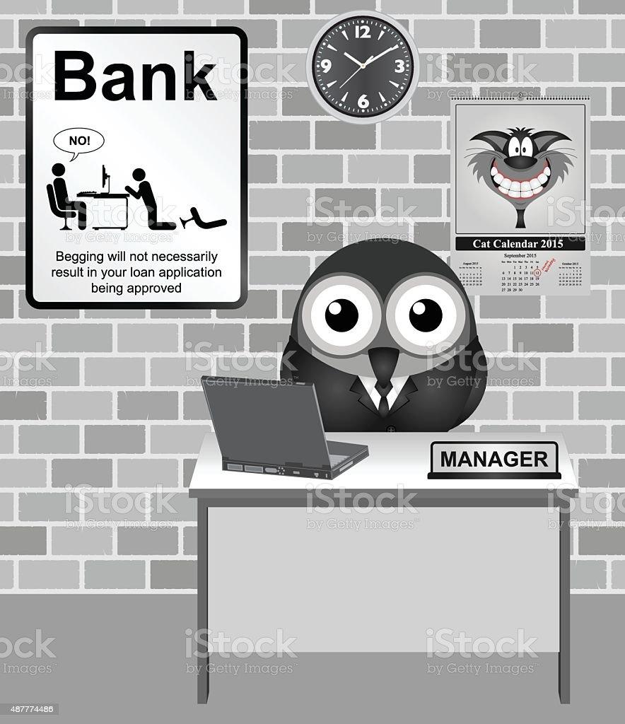 Bank Manager vector art illustration