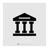 Bank Monochrome Icon