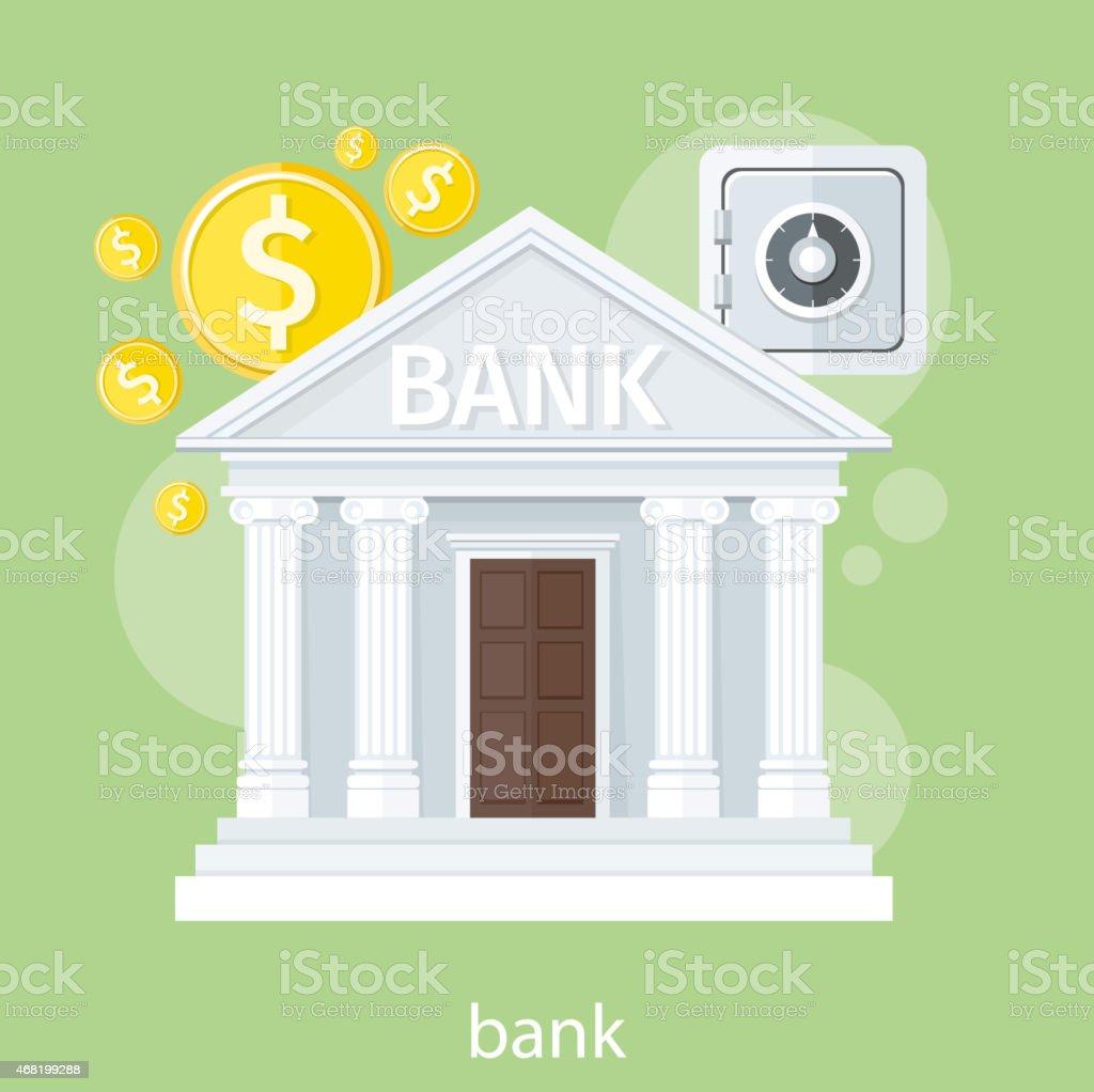 Bank office symbol vector art illustration