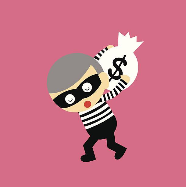 bank robber vector cartoon - old man mask stock illustrations, clip art, cartoons, & icons
